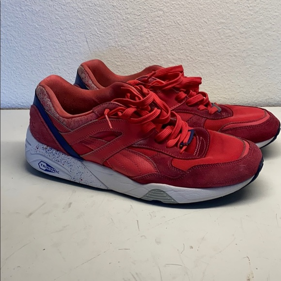 Red Puma Trinomic shoes